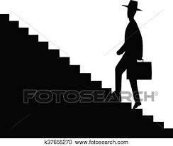 up stairs clipart. Perfect Clipart Clipart  Man Getting Upstairs Fotosearch Search Clip Art Illustration  Murals Drawings For Up Stairs A