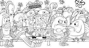 Small Picture Take The Attention Spongebob Coloring Pages Free Cartoon
