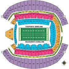 Seahawk Stadium Seat View Seating Chart