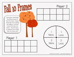 10 frame template colorful ten frame game elaboration framed art ideas