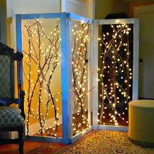 Tree Branch Lighting HowTo Twinkling Branches Room Divider Tree Branch Lighting