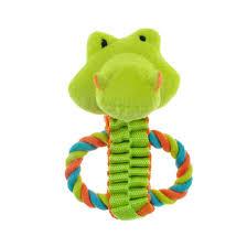 chomper mini safari tug pals dog toy gator