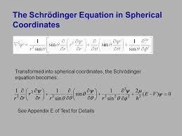 the schrödinger equation in spherical coordinates