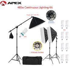 apex 485 watts studio continuous lighting kit save up to 4 000 pesos 30 off