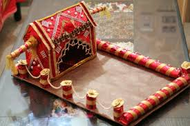 How To Decorate Trays For Indian Wedding First wedding card tray Trousseau packing Pinterest Wedding 10