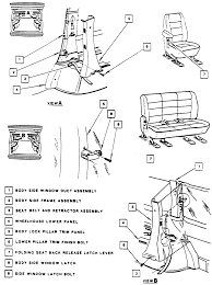 1 exploded view of the rear seat belt retention system 1 of 2