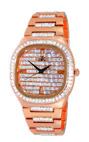 online watch auctions men s watches propertyroom com colored n crystal accent silvertone ak9700 mrg