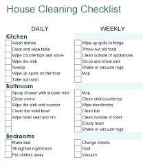 House Cleaning Checklist Template Professional House Cleaning