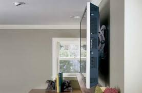 flat screen tv on wall side view. a heavy plasma tv flat screen on wall side view