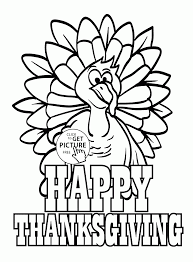 Happy Thanksgiving Turkey Coloring Pages For Kids Thanksgiving Day