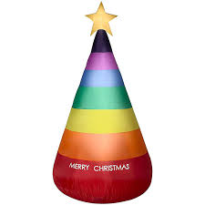 Inflatable Christmas Tree With Lights Gemmy 7ft Rainbow Lighted Inflatable Christmas Tree Indoor Outdoor Holiday Decoration