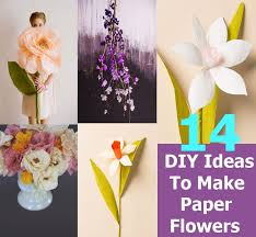 Small Picture 14 DIY Ideas To Make Beautiful Paper Flowers For Home Decor DIY