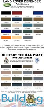 Land Rover Discovery 4 Colour Chart Landrover Colours Land Rover Truck Land Rover Defender