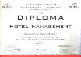 diploma in hotel management swiss hotel association resume  description