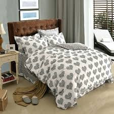 cotton king size duvet cover black and white polka dot heart colorful plaid geometric bedding set