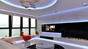 led lighting interior. MSWW This Amazing Modern Apartment Is Located In Gdynia, Poland. Thank You To The Specially Built, Blue LED Lighting Prevails Throughout Interior Led