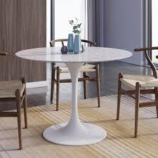 Saarinen Tulip Round Marble Dining Table. >