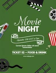 Movie Night Flyer Word Template Rome Fontanacountryinn Com