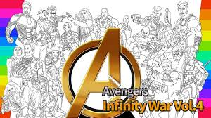 Marvel Avengers Infinity War Coloring Movie How To Draw Drawing