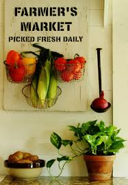 bring the farmer s market indoors withh this easy diy farmer s market sign kitchen produce baskets