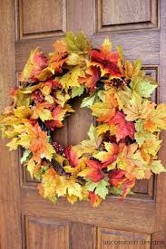 10 minute fall leaf wreath from uncommon designs