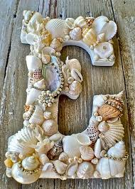 Diy : seashell letters Great idea for using up some of the shells my kids  collect on vacation