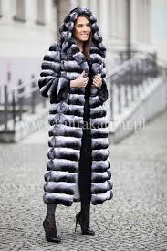 genuine chinchilla fur coat