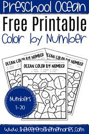 Is your child facing difficulty in color & number recognition? Free Printable Color By Number Ocean Preschool Worksheets The Keeper Of The Memories