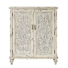 antique cabinet doors. pulaski p shabby chic accent chest with fleur de image charming white mirrored cabinet antique doors q