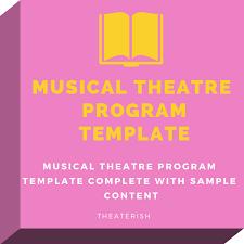 Free Musical Theater Program Template Theaterish