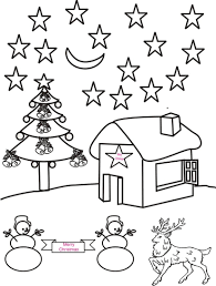 Small Picture Christmas night scenery coloring page