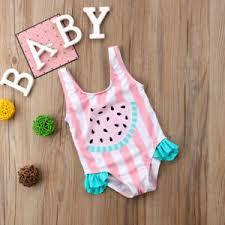Toddler Kids Baby Girls Watermelon Ruffles Swimsuit Swimwear Bikini ...