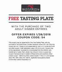 Red Lobster Printable Coupon Limited Time