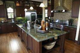 green granite countertops kitchen custom kitchen with green granite island dark brown cabinetosaic tile white kitchen cabinets green granite