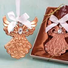 rose gold guardian angel ornament favor