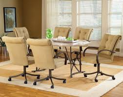 dining room tables with rolling chairs