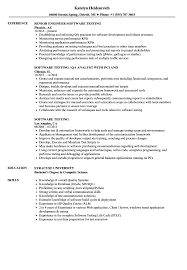 Software Tester Resume Sample Software Testing Resume Samples Velvet Jobs 55