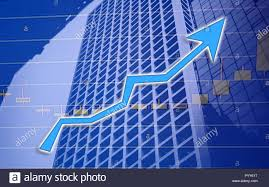 Stock Market Chart Shown In Financial Building Business