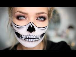 half skull makeup tutorial lets learn makeup