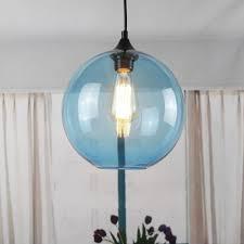 blue glass shade vintage industrial ceiling pendant light lamp edison chandelier 1 light 40w filament bulb