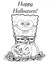 Small Picture Spongebob Printable Halloween Coloring Pages Hallowen Coloring
