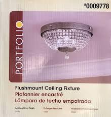 portfolio flushmount ceiling fixture 0009778
