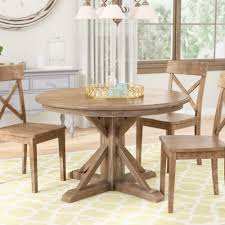 Three Posts Nuneaton Solid Wood Dining Table Reviews Wayfair