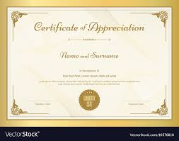 free recognition certificates certificate of appreciation template