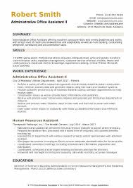 Office Administration Resume Examples Administrative Office Assistant Resume Samples Qwikresume