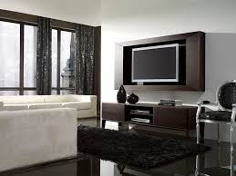 Wall Tv Decoration Classy Image Of Modern Black And White Living Room Decoration