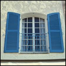 outdoor wood louvered shutters