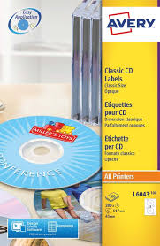 Avery Cd Labels Avery Cd Dvd Labels Laser 2 Per Sheet Dia 117mm Classic Size Pack 100 Sheets