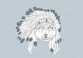 Drawn Wolf Hand Drawn Wolf With Bonnet Download Free Vector Art Stock