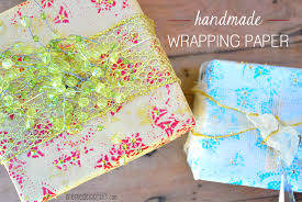 handmade wrapping paper 23 days to go